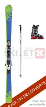 Pack DECOUVERTE EVOLUTION : Ski + Boots